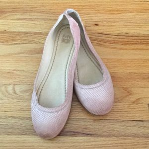 Frye Carson Ballet Rattlesnake Pale Pink 9.5